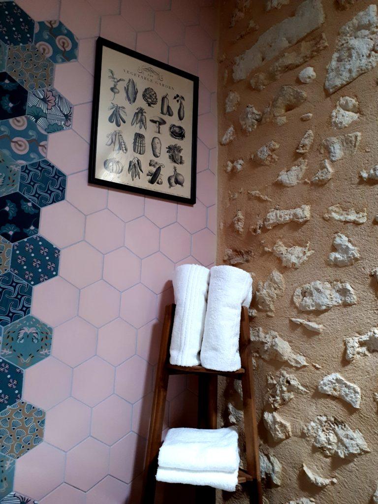 detail salle de bain - chambre côté jardin- Domaine de Garat