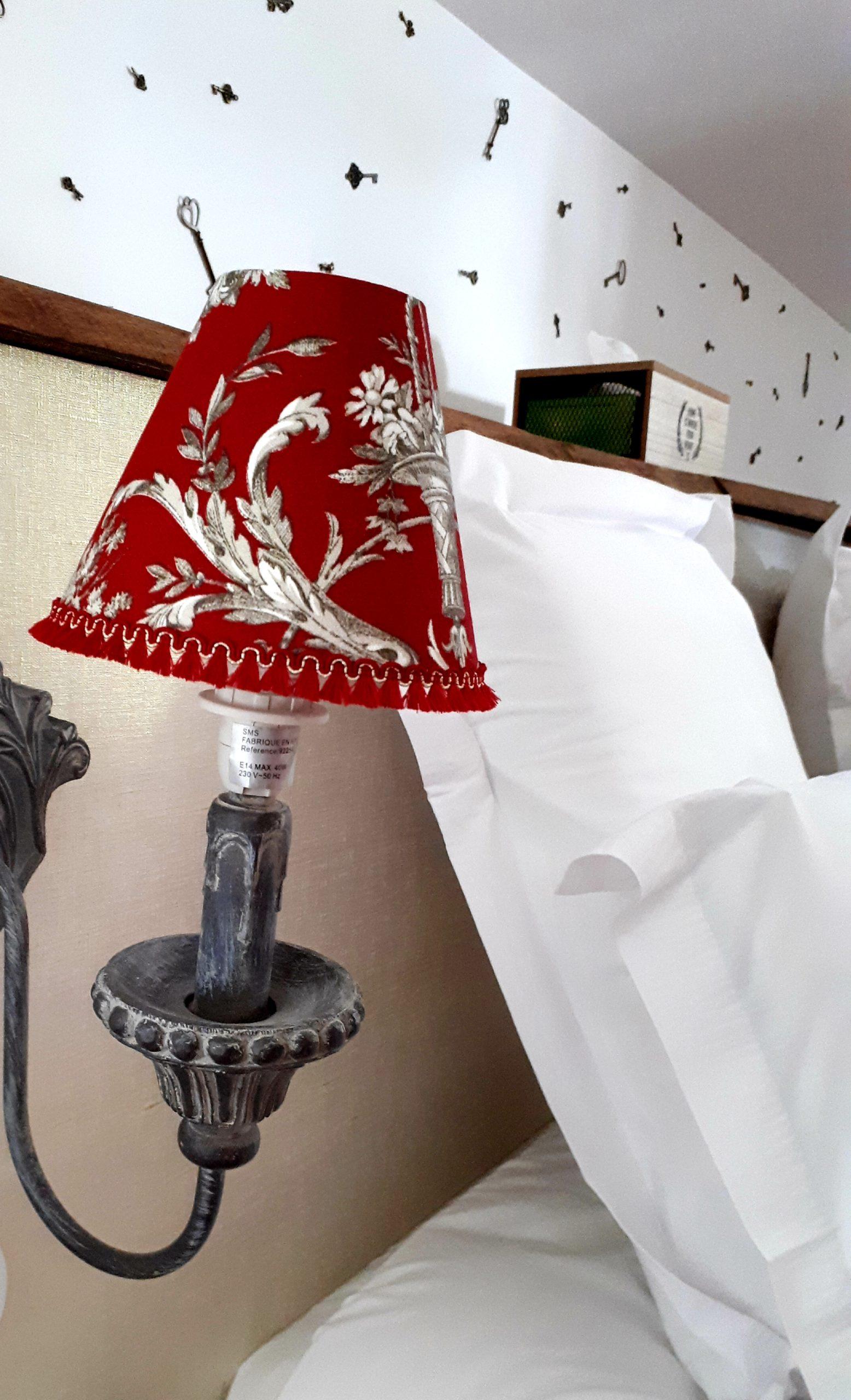 détail déco- chambre romantique - Domaine de Garat